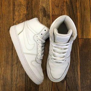 Nike Womens Ebernon Mid White Shoes Laces Size 6